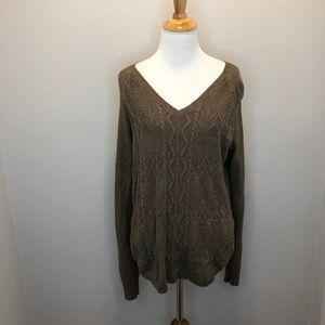 Sonoma long sleeve brown knit sweater